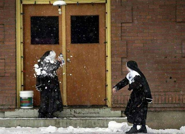 That's what you get Sister Gertrude