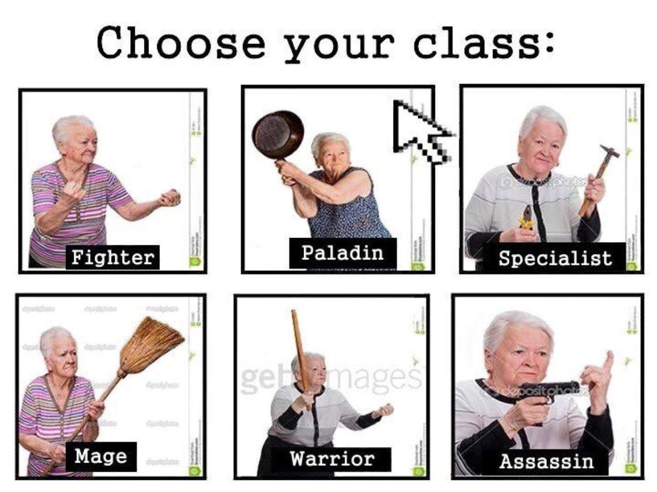 Which class will you choose