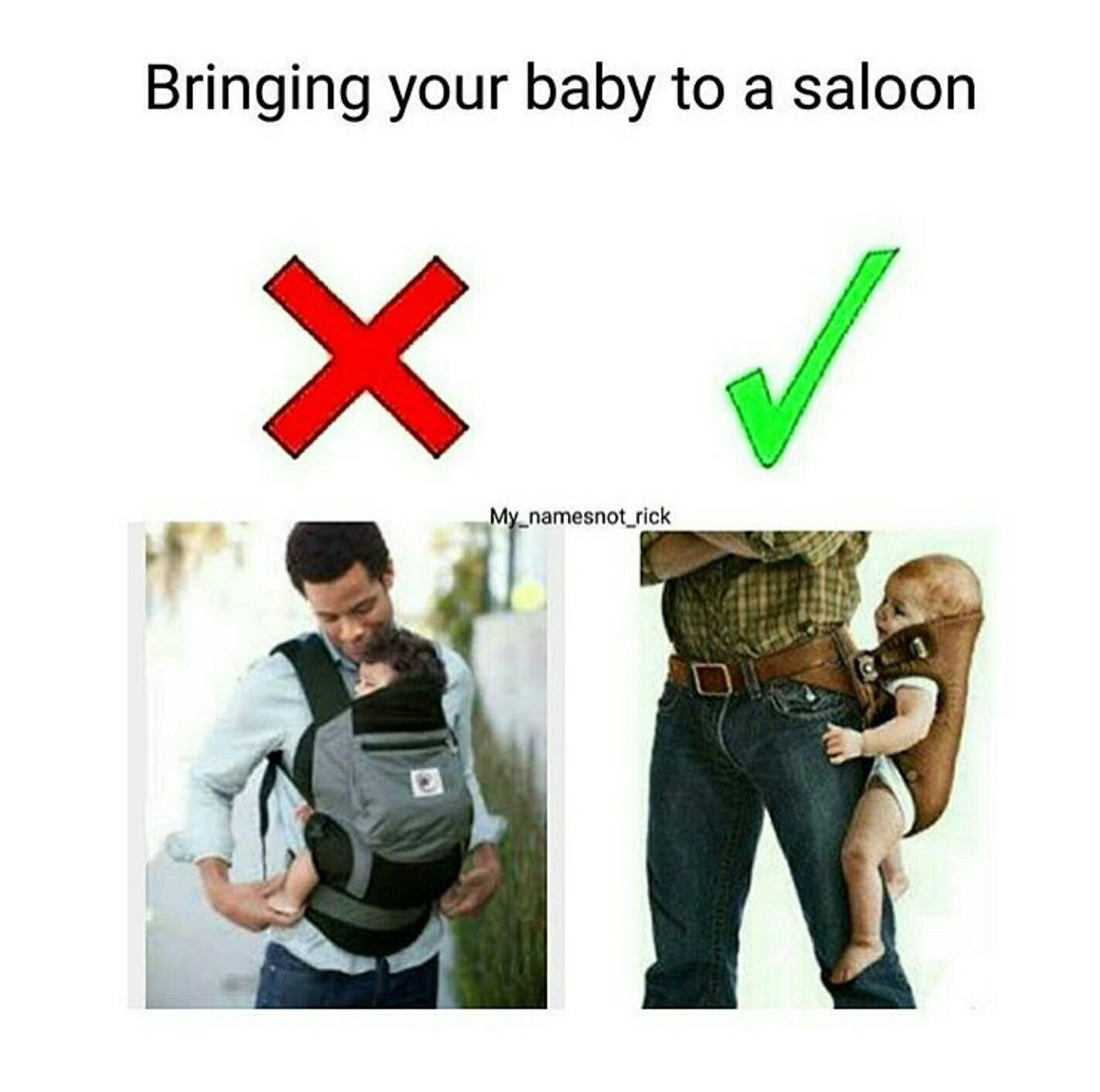 Bringing your baby to a saloon
