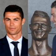 Cristiano Ronaldo's new bust at an airport named after him