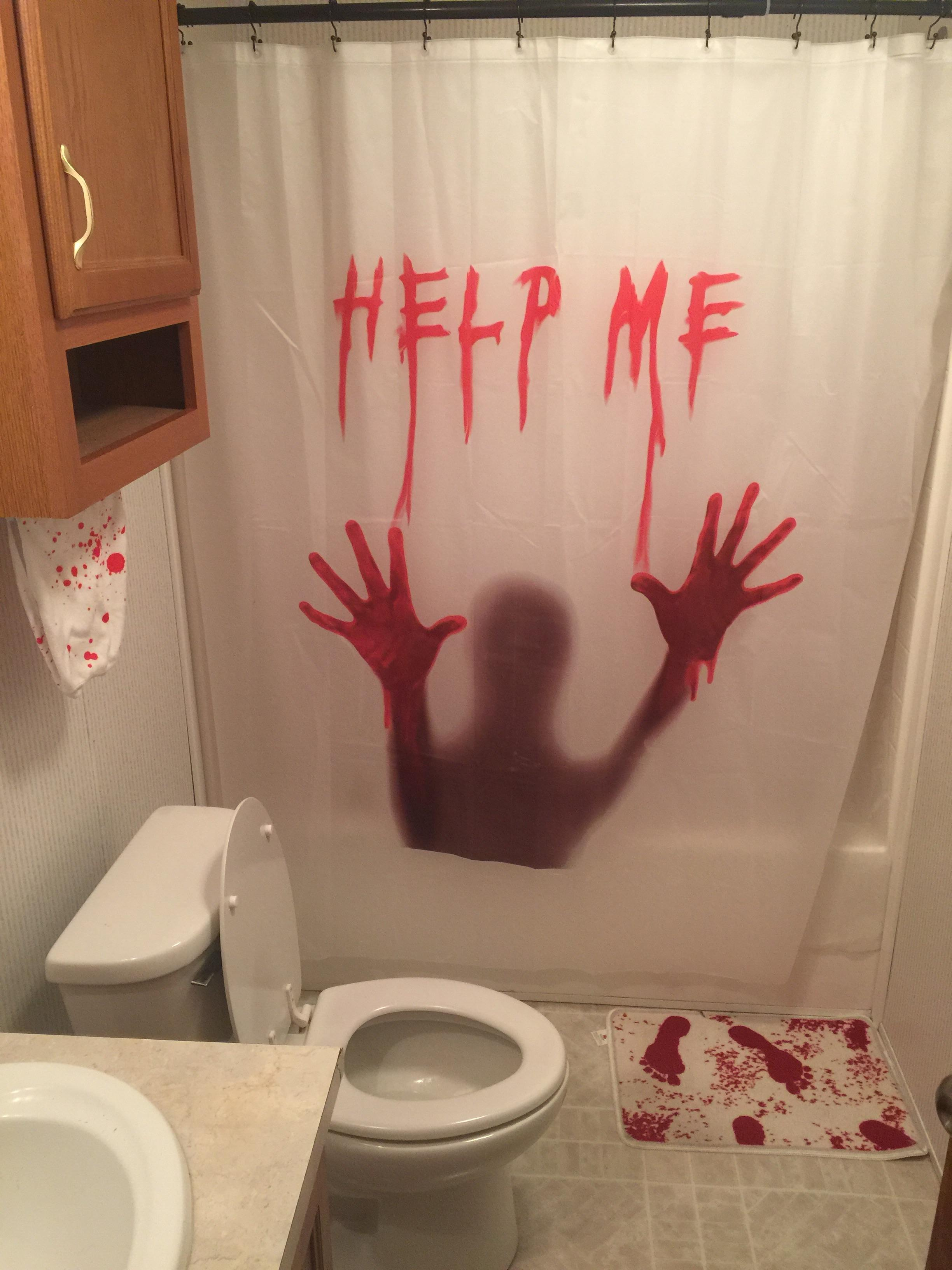 My wife said I could decorate the guest bathroom as my own. Multiple screams have ensued.
