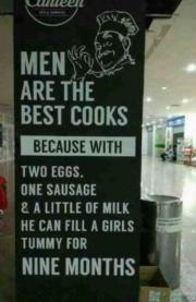 Men are the best cooks…