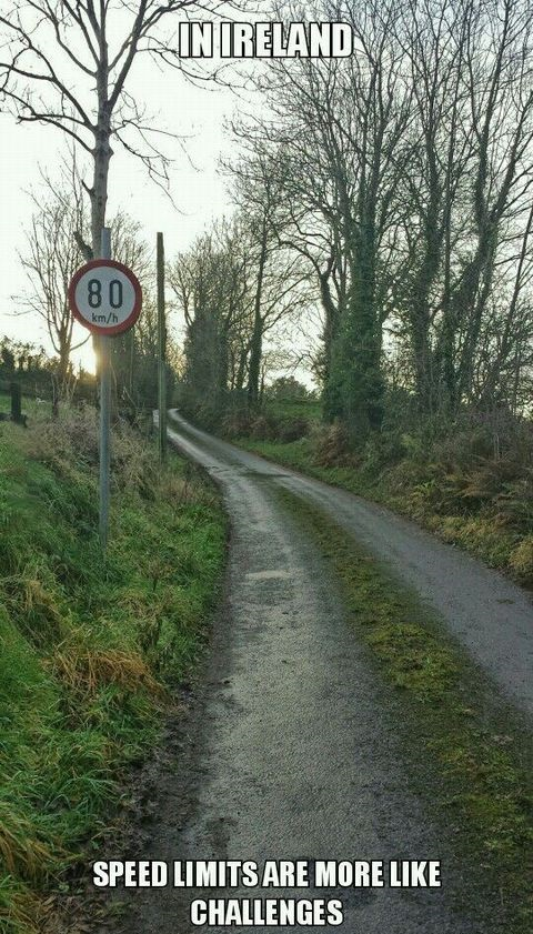 Challenging speed limits in Ireland
