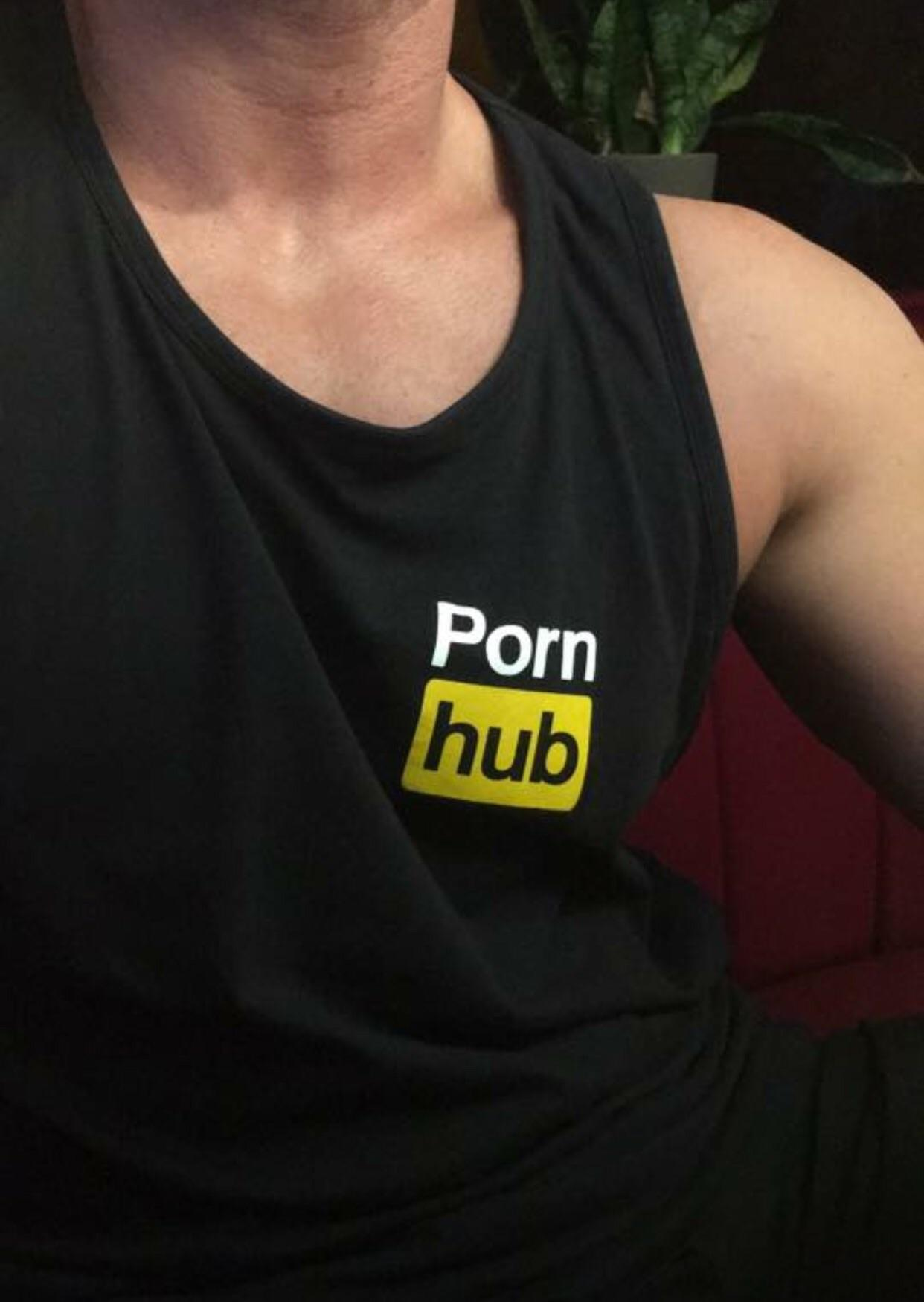 That time a guy wore a Porn Hub tank top to our first date.
