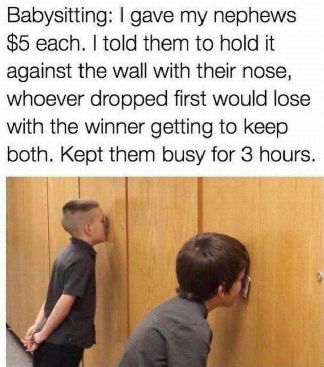 Brilliant babysitting method