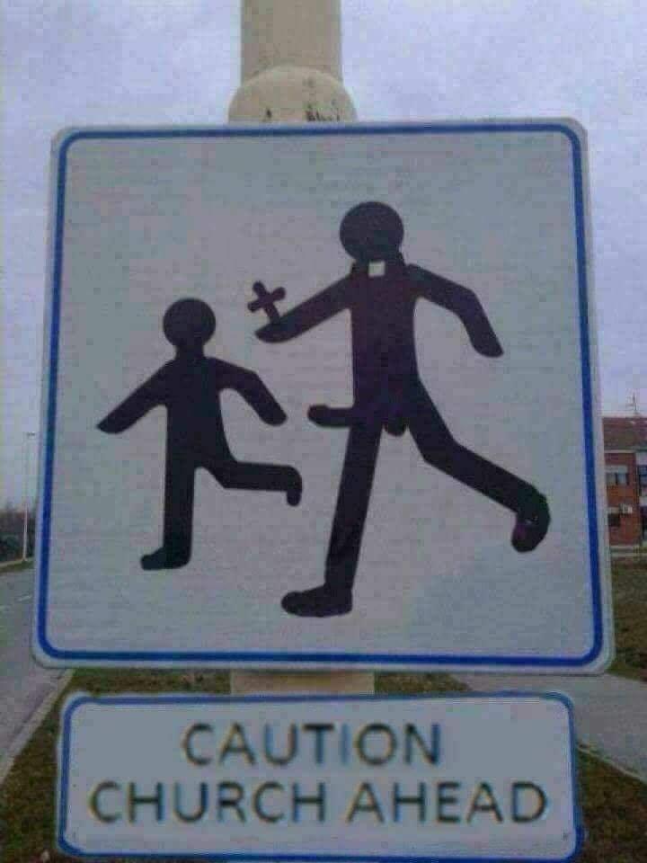 Caution. Church ahead.