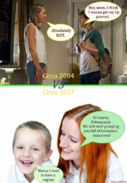 Parenting then and now