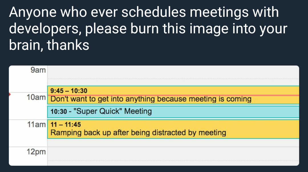 Meetings with developers
