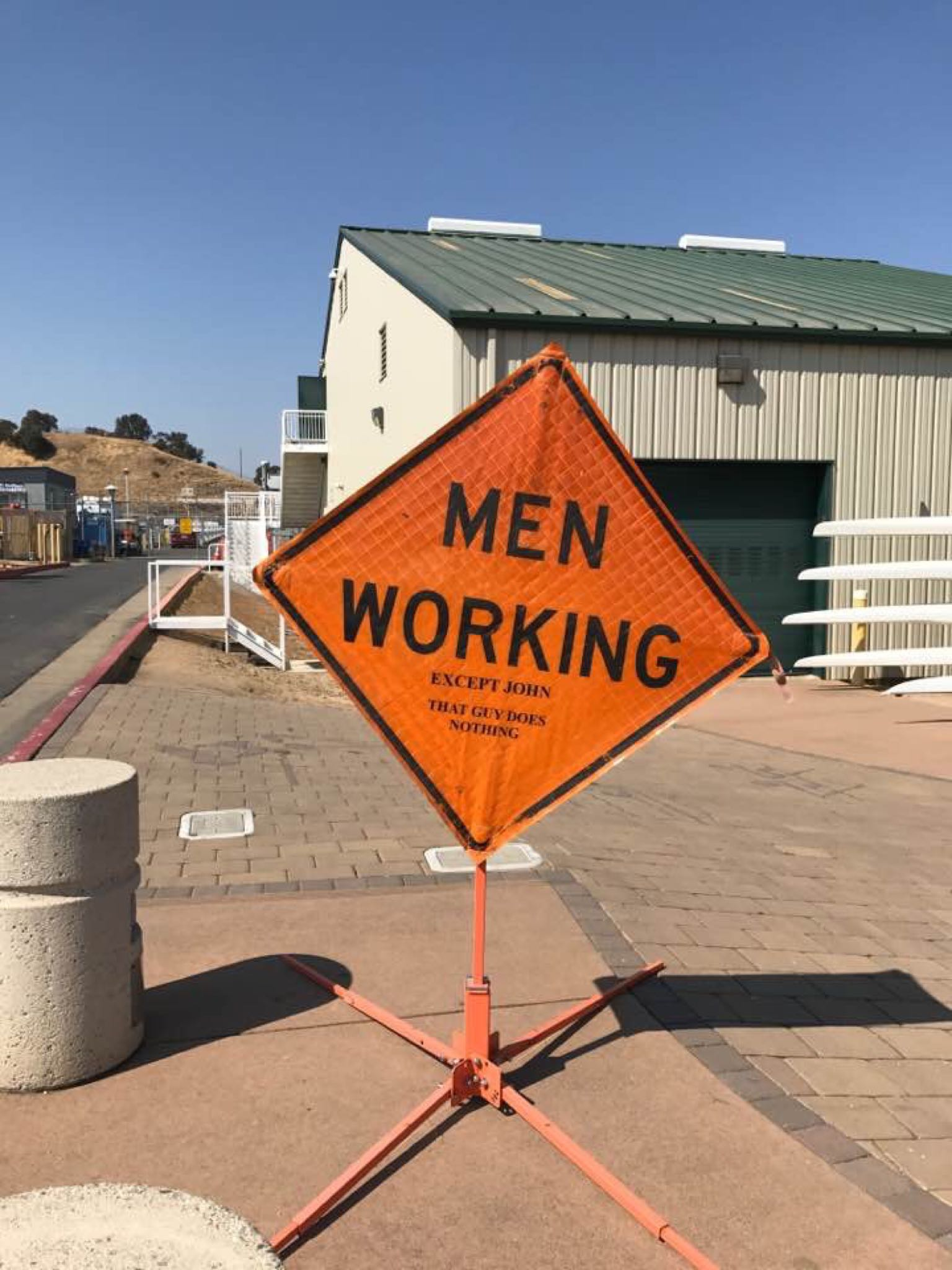 Men working, except…