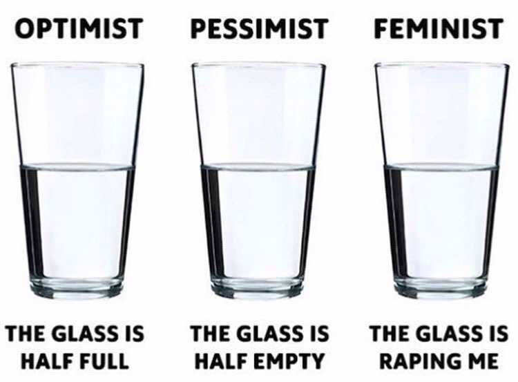 Optimist vs Pessimist vs Feminist