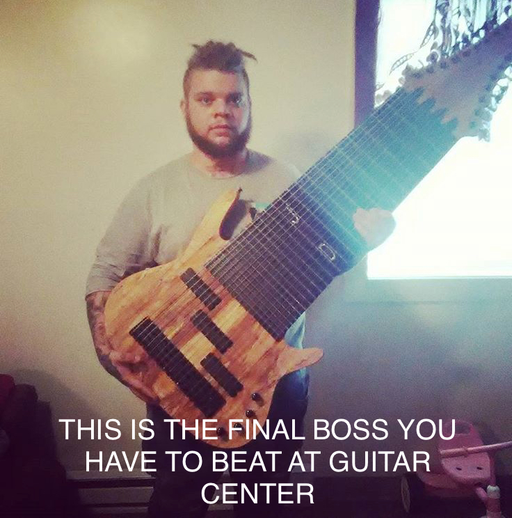 This is the final boss you need to beat at guitar center