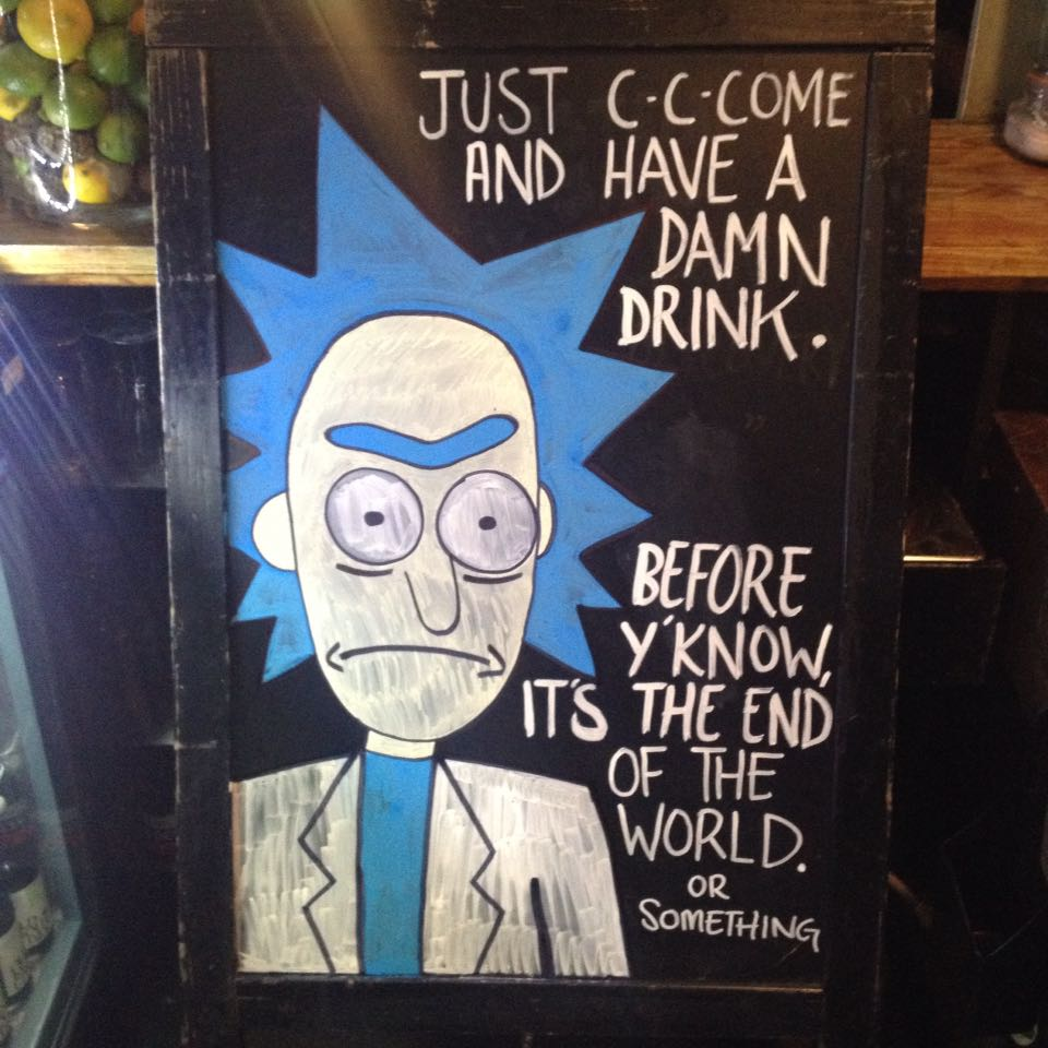 Rick's inviting for a drink