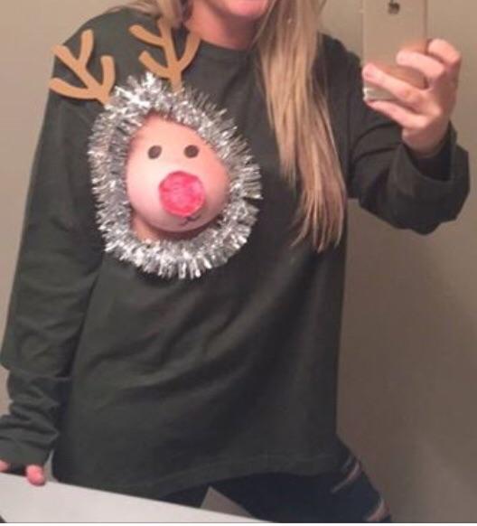 Cute boob reindeer christmas sweatshirt