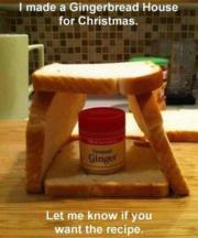 DIY Gingerbread house for Christmas.