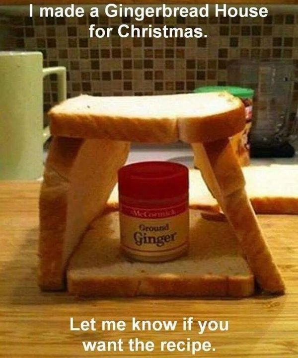 DIY Gingerbread house for Christmas.