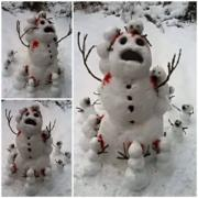Snow man cannibals