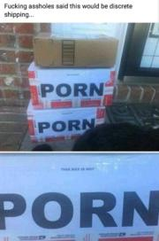 Discrete shipping – This box is not porn