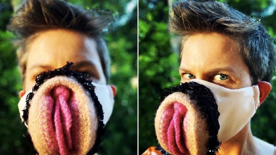 Great idea for DIY mask – Crochet vagina face mask
