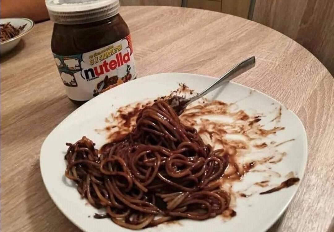 Michelin star spaghetti alle nutella