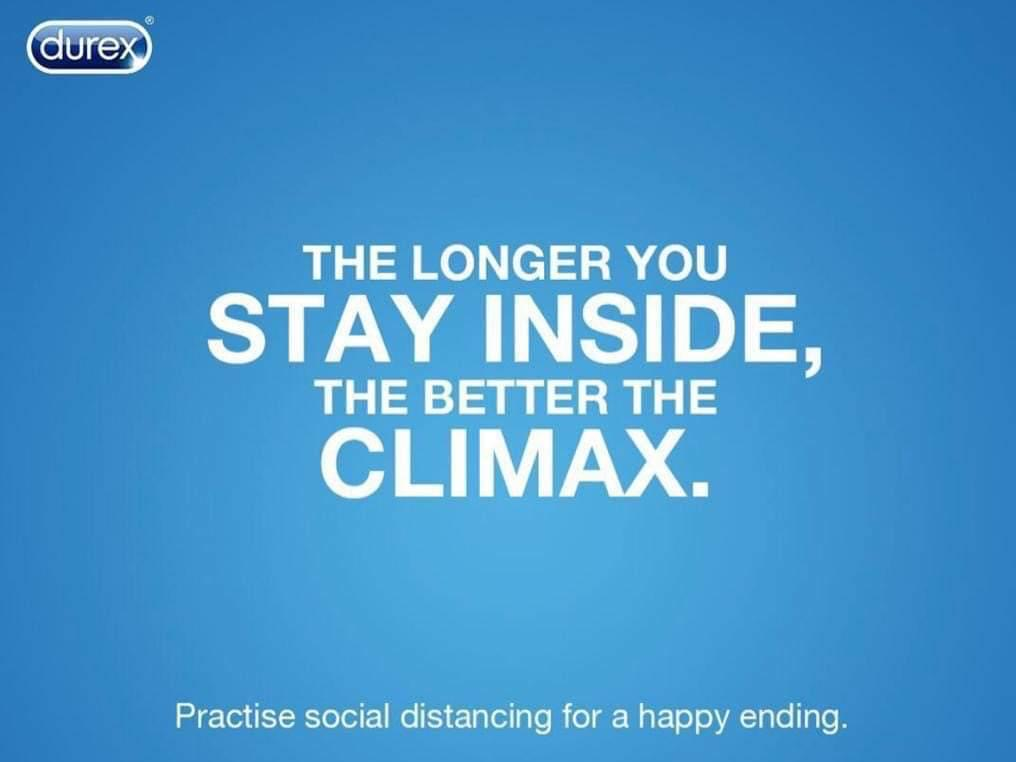 Practise social distancing for a happy ending