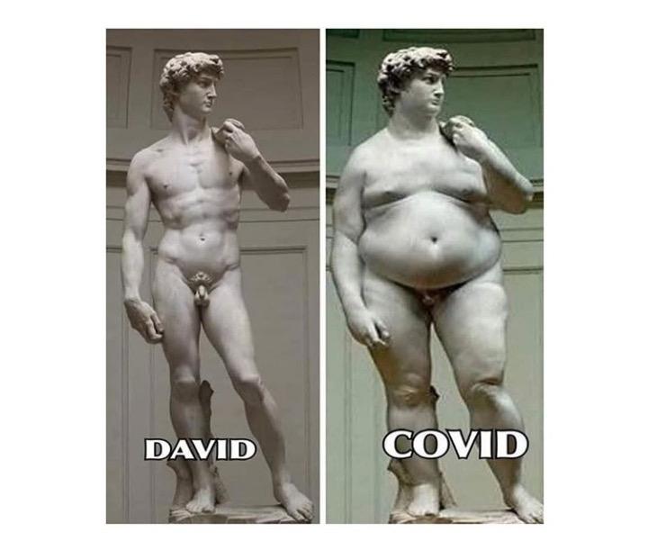 Sculpture art – David and Covid