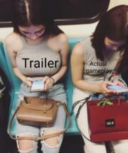 Trailer vs Actual gameplay