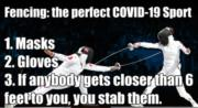 Fencing is the perfect Covid-19 sport
