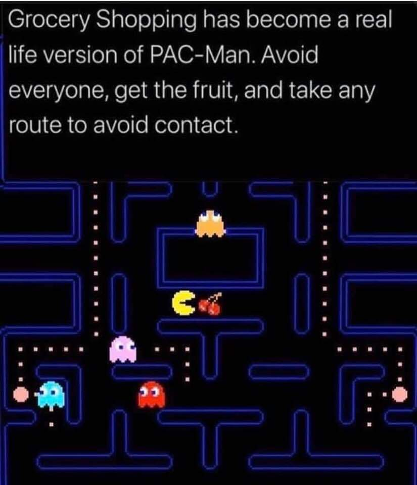 Shopping has become a real life version of Pac-Man