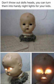 Cool DIY Doll Head Night Light For Your Kid