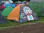 Let's get schwifty festival tent