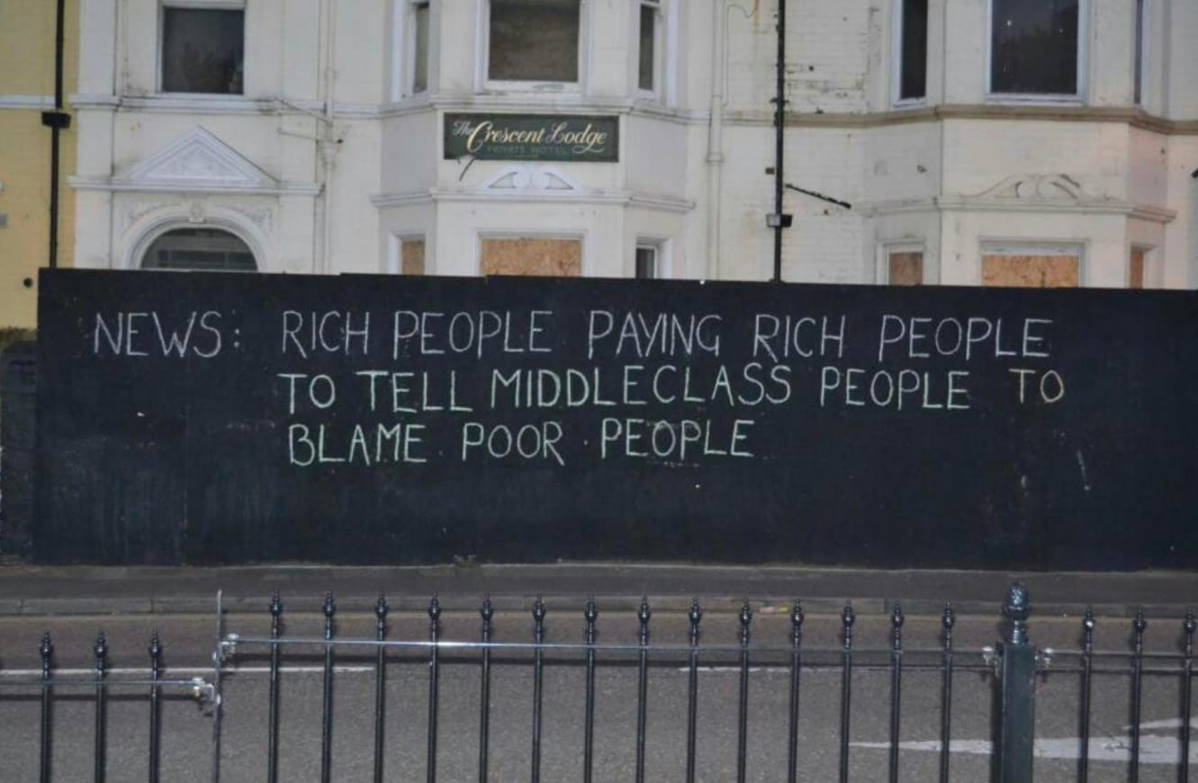 Rich people paying rich people to tell middle class people to blame poor people