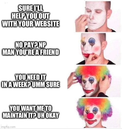 Sure I'll help you out with your website