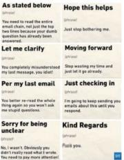 Email phrases and their meaning