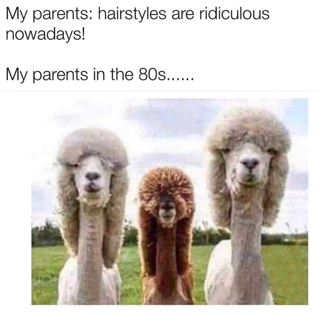Hairstyles are ridiculous nowadays