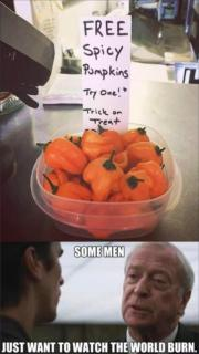 Spicy Pumpkins – just want to watch the world burn