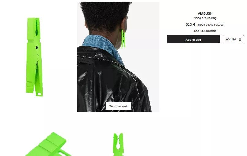 Awesome accessories – Ambush clip earring
