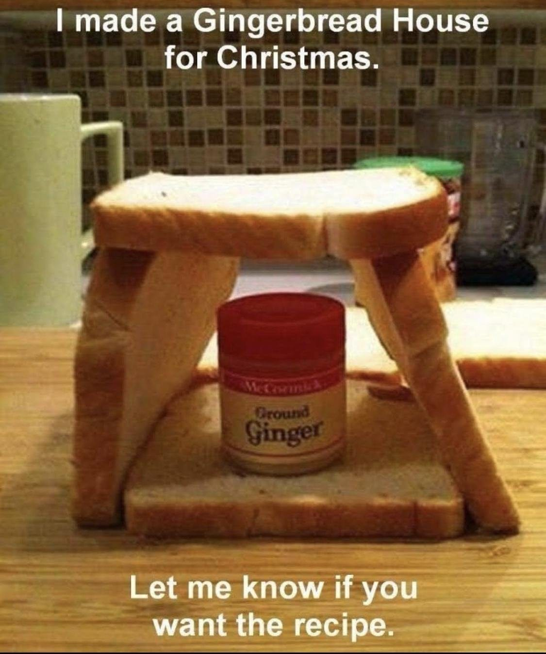 Easy Gingerbread house for Christmas