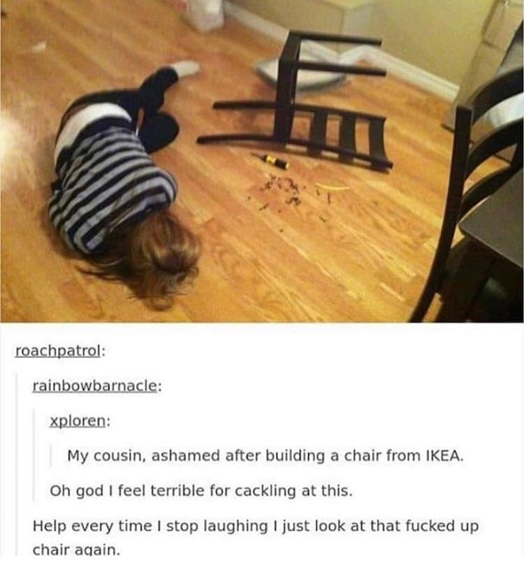 How to not build a chair from Ikea