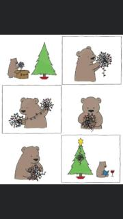 Keep calm and decorate your Christmas Tree like a bear