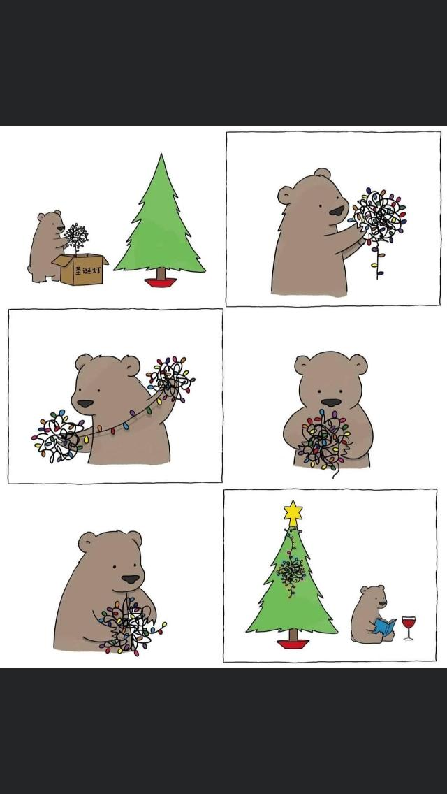 Keep calm and decorate your Christmas Tree like a bear