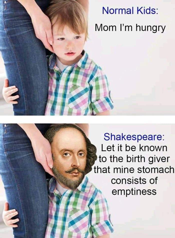 Normal kids vs Shakespeare