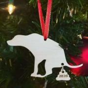 Pooping dog Christmas tree decoration 2020