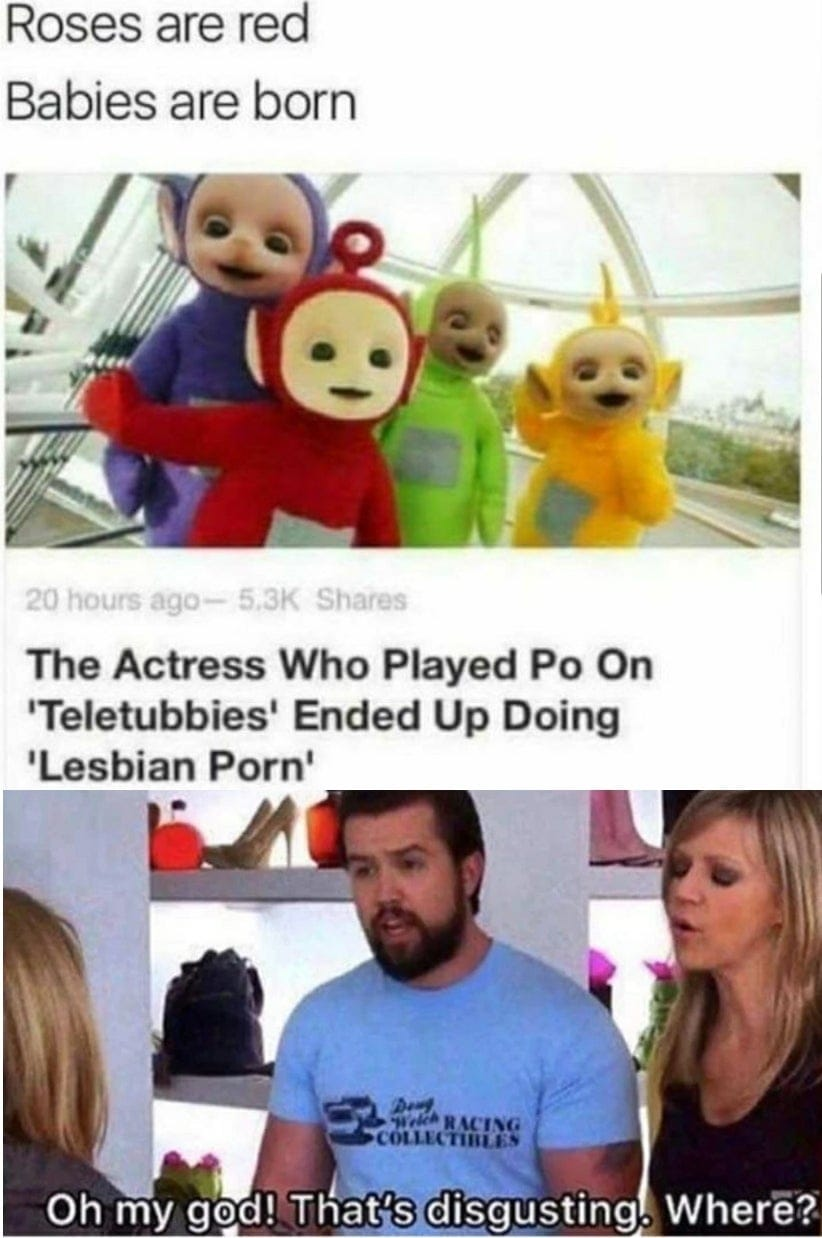 Roses are red, babies are born
