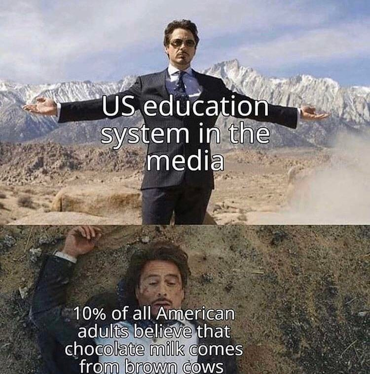 US education system in the media