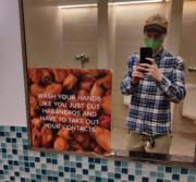 Wash your hands like you just cut habaneros and have to take out your contacts