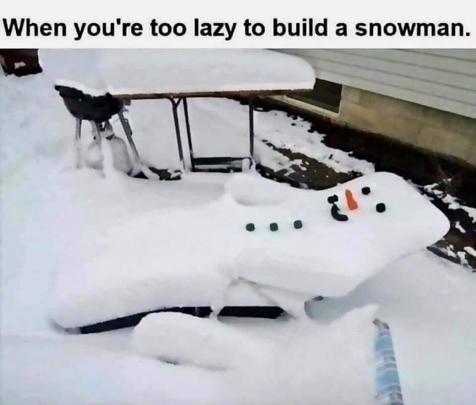 When you're too lazy to build a snowman