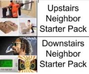 Upstairs and downstairs neighbours starter packs