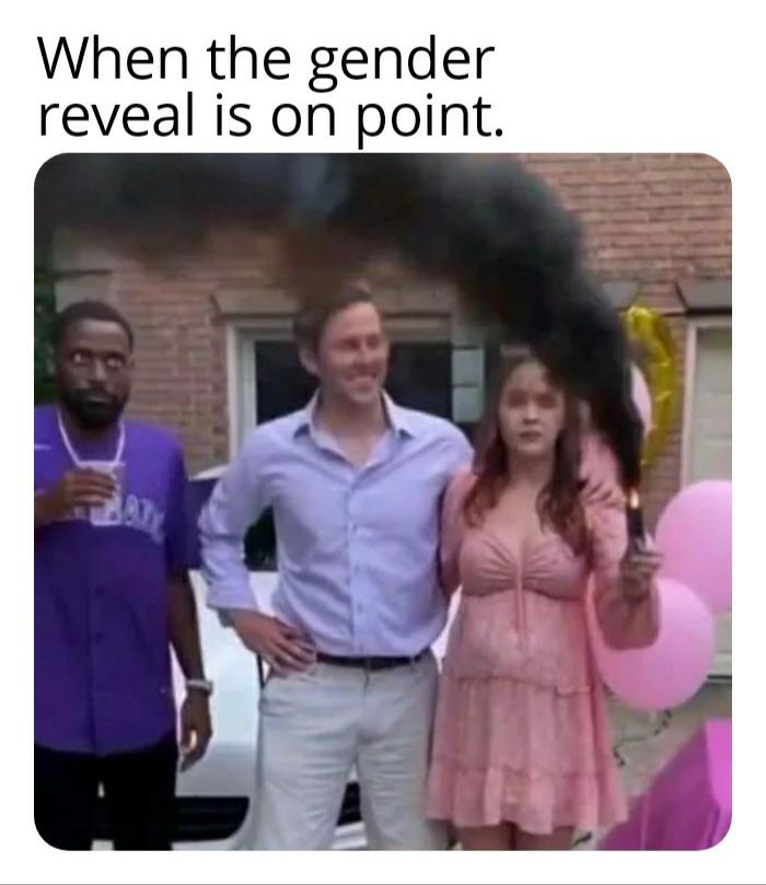 When the gender reveal is on point