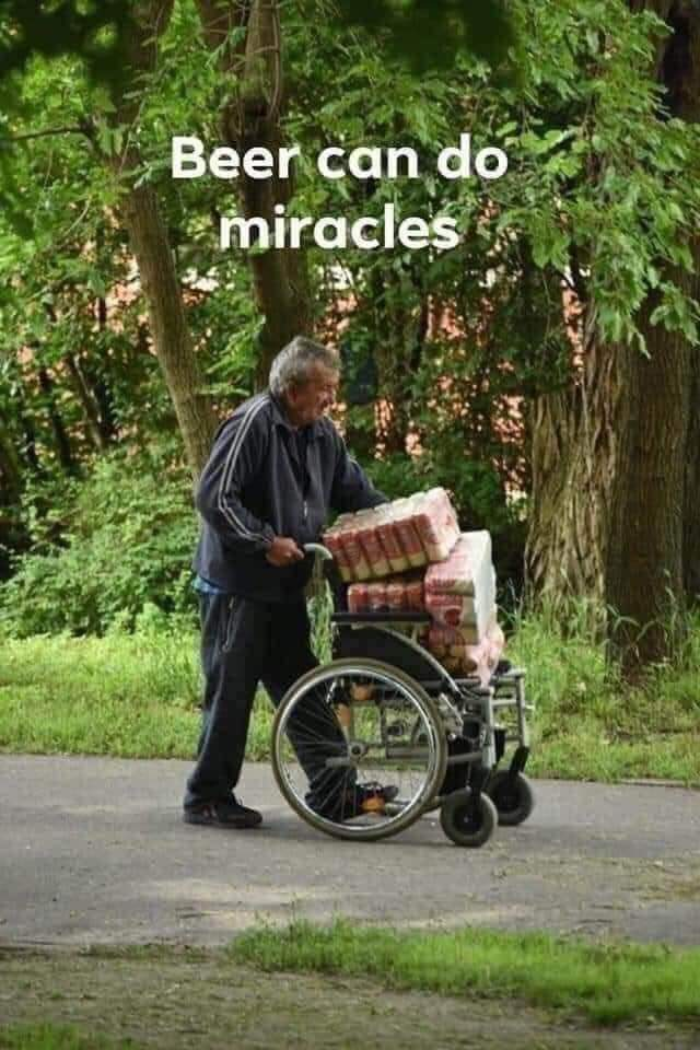 Beer can do miracles