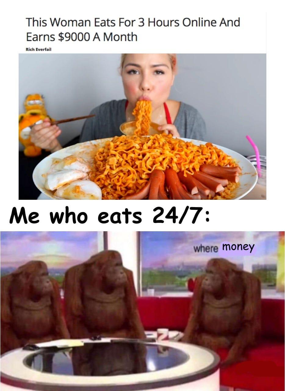 Earn money eating online